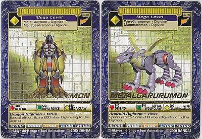 Digimon Gold Stamp Card Lot - Bo-148 Wargreymon + Bo-149 Metalgarurumon + Bonus