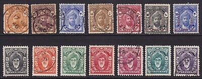 Zanzibar -1936 &1952 selection  Good mix