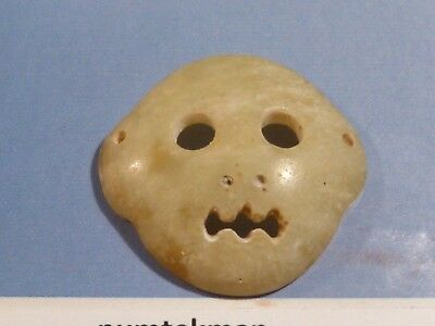 ANTIQUE CHINESE MING DYNASTY MONKEY FACE MASK BEAD SERP. 24.5 BY 5 MM pumtekman