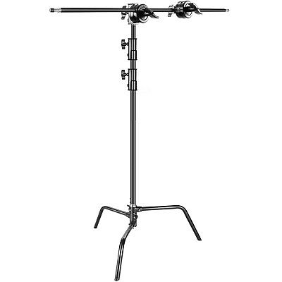 """Neewer Black 42"""" Extension Grip Arm Boom Arm with Grip Heads for Light Stand"""