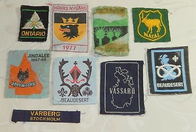 Job Lot 9 Vintage Scout World & Jamboree Badge Patches Collection Many Extinct