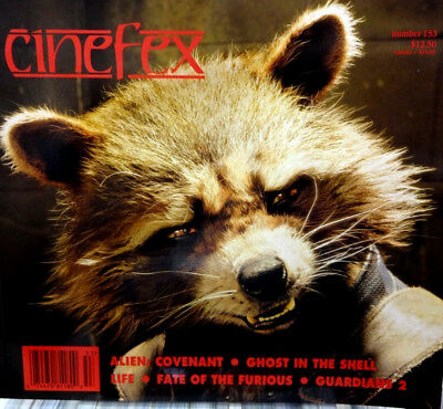 Cinefex 153 Guardians of The Galaxy  Alien: Covenant, Ghost In The Shell  NEW