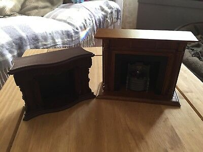 2 X Victorian Dolls House Fireplaces 1:12th