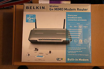 *** Belkin Wireless G Mimo Modem Router Boxed ***