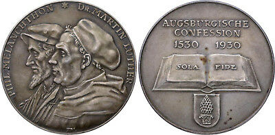 Reformation - Silbermedaille 1930 - Luther