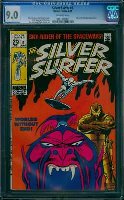 Silver Surfer # 6  Worlds Without End !  CGC 9.0 scarce book !