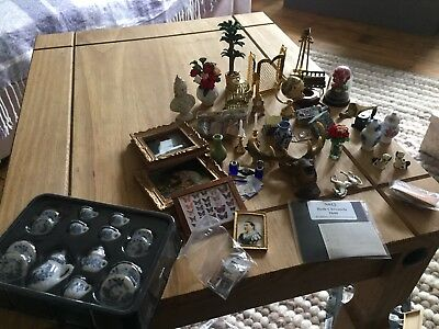 Victorian Dolls House Items Bundle 1:12th Scale , Study, Living Room