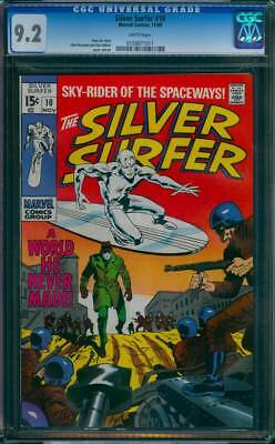 Silver Surfer # 10  A World He Never Made !  CGC 9.2 scarce book !