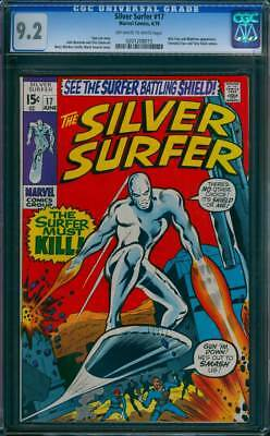 Silver Surfer # 17  The Surfer Must Kill !  CGC 9.2 scarce book !