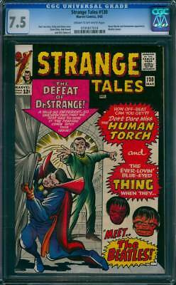 Strange Tales # 130  The Defeat of Doctor Strange !  CGC 7.5  scarce book!