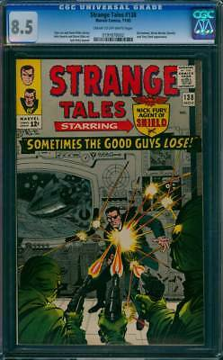 Strange Tales # 138  Sometimes the Good Guys Lose !  CGC 8.5  scarce book!