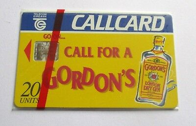 Call For A Gordons  / Irish Telecom Mint Sealed  Phonecard