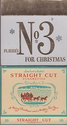 10 Different Vintage Cigarette Packet Christmas Sleeves