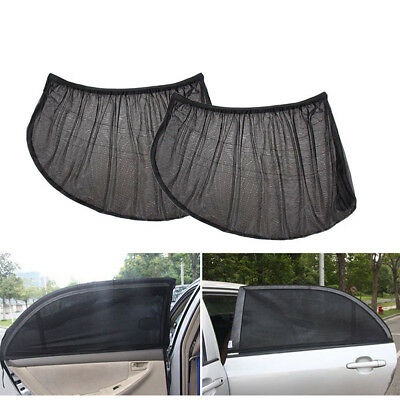 2x Car Front Rear Window Socks Sun Shade Mesh SUV UV Protection Large pair sox
