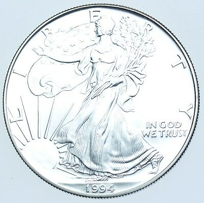 Usa, United States, 1Oz Fine Silver Eagle Dollar $1, 1994 Coin Bu