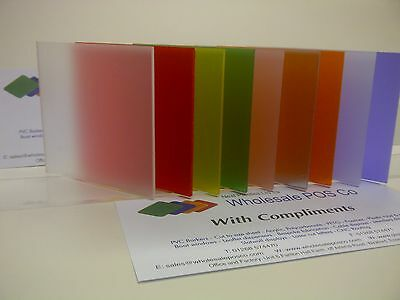 A3 3mm Perspex Frost Acryl Farbe Seiten Pick A Farbe ideal Handwerk Material