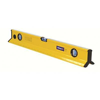 "Spirit Level 2ft 24"" Tri Vitrex TRI600 Beam 600mm Coping Brick Builders 3 Vials"