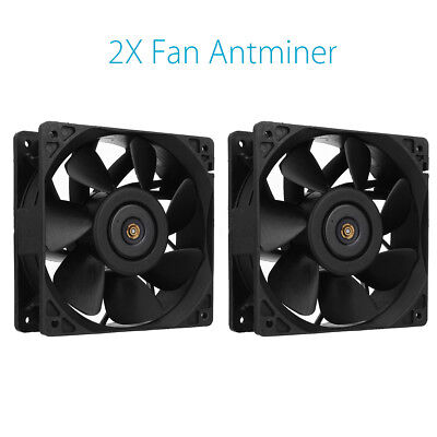 2X 6000RPM Cooling Fan Replacement 4-pin Connector For Antminer Bitmain S7 S9 AU