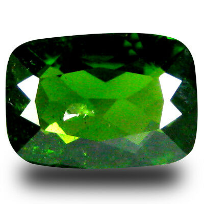 2.36 ct  Excellent Cushion Shape (10 x 7 mm) Green Chrome Diopside Gemstone