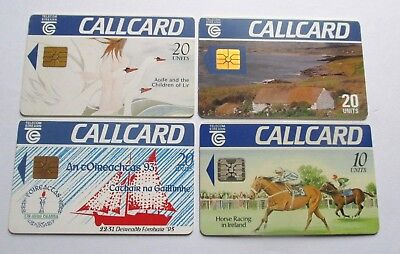 Four Used Irish Phonecards / A