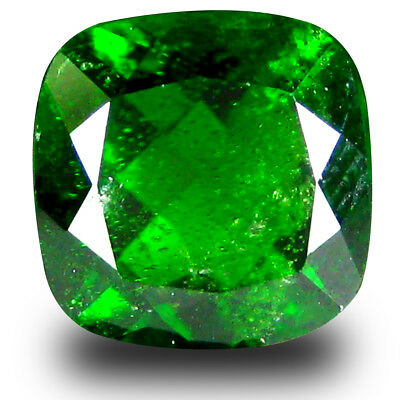 3.49 ct  Super-Excellent Cushion Shape (9 x 9 mm) Green Chrome Diopside Gemstone