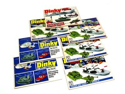 7 X Assorted 1970's Dinky Toys Catalogues Excellent No Reserve