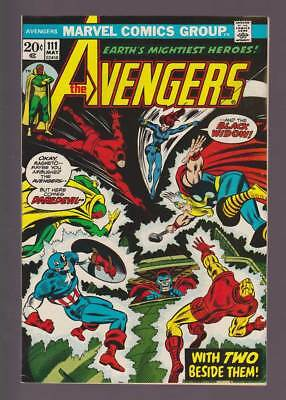 Avengers # 111  With Two Beside Them !  grade 8.5 scarce book !