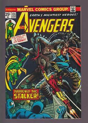 Avengers # 124  Suddenly...the Stalker !  grade 9.0 scarce book !