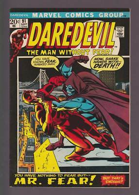Daredevil # 91  You Have Nothing to fear but Mr. Fear !  grade 8.5 scarce book !