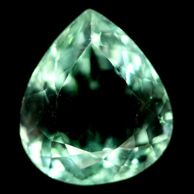 18.51 CT REAL! UNHEATED 15 X 17 mm. GREEN CHINA FLUORITE PEAR
