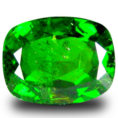 2.24 ct  Very good Cushion Shape (9 x 7 mm) Green Chrome Diopside Gemstone
