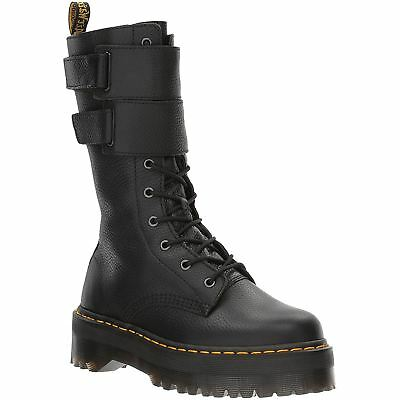 Dr.Martens Jagger 10-Eyelet Black Womens Aunt Sally Mid-Calf Zip-up Boots