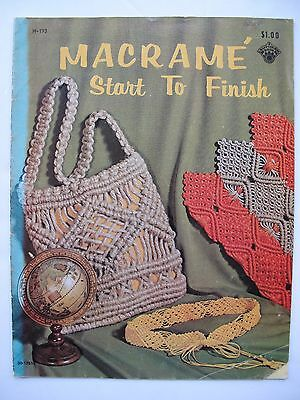 Macramé Start To Finish - 1971 Usa