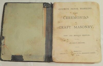 1917 Masonic Pocket Book Craft Perfect Ceremonies