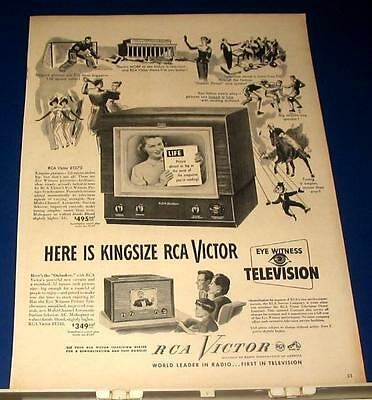 1949 RCA table top Television Ad