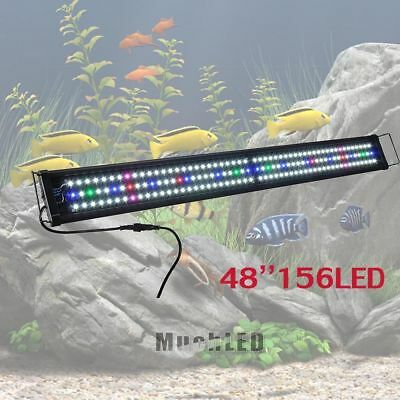 "48"" 156LEDs Multi-Color LED Aquarium Light 0.5W Full Spec Plant Marine Fish Tank"