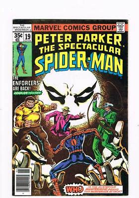 Spectacular Spider-Man # 19  The Enforcers !  grade 8.5 scarce book !!