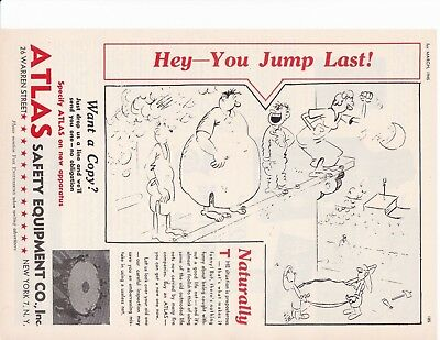 "Atlas Life Net   ""you Jump Last""    1945 Ad                   7115"