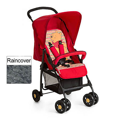 Hauck Pooh Spring Bright Red Sport Pushchair Stroller From Birth With Raincover