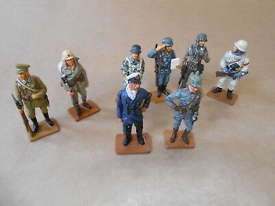 Military Figures of World War I & II - 8 x Del Prado Painted Lead Figures