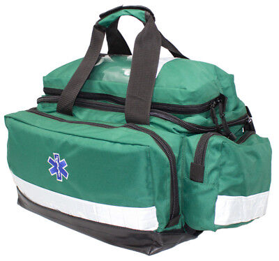 KITTED Green Large Emergency First Aid Paramedic First Responder Trauma EMT Bag