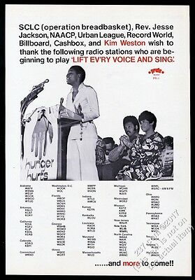1970 Kim Weston photo Lift Ev'ry Voice and Sing song release trade print ad
