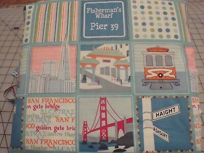 Vacation Travel Trip Usa California San Francisco  Fabric Scrapbook Album 12X12