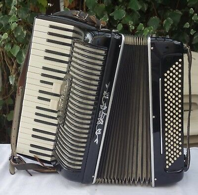 Ancien accordéon WURLITZER / Accordion Akkordion / Musique / GEIB Chicago