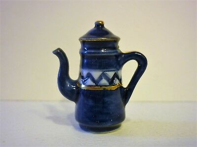 Feve  Cafetiere Emaillee Bleue    Recto/verso