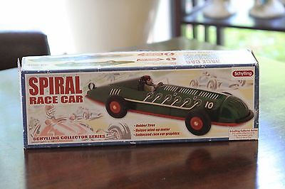 SPIRAL RACE CAR Tin Wind-Up Toy NEW Schylling