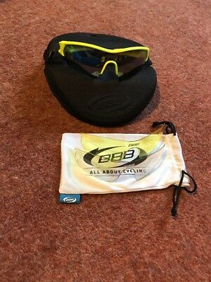 BBB Select 43 Fluro Yellow Cycling Glasses 3 Lenses