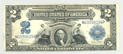 $2 Series 1899 Silver Certificate, high grade and very nice looking