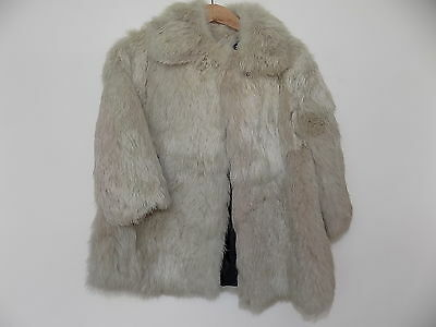 Rare 1960s vintage little girls fur coat - rabbit fur coat