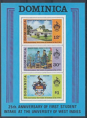Timbre Stamp Bloc Ile Dominica Y&t#23 Universite Ecole Neuf**/mnh-Mint 1974 ~A37